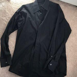 Gucci men's black button down size L 39  15 1/2
